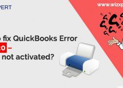 How to fix QuickBooks Error Code 20 - Printer not activated?