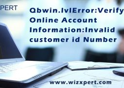 Qbwin.Log: Lvl_ERROR--Error: Verify Online Account Information: Invalid Customer Id Number