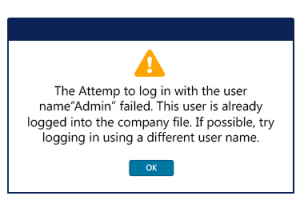 The attempt to log in with the username failed