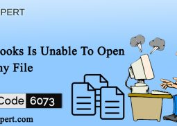 Error Code 6073: QuickBooks Is Unable To Open Company File