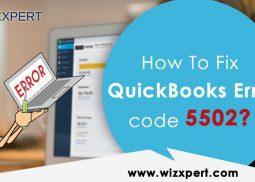How To Fix QuickBooksErrorcode 5502?