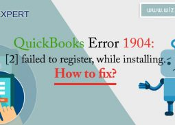 QuickBooks Error 1904: [2] failed to register, while installing. How to fix?