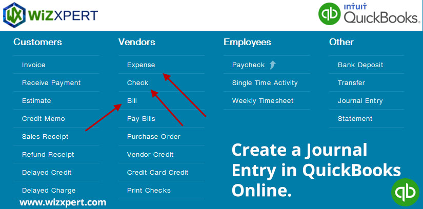 Create a Journal Entry in QuickBooks Online