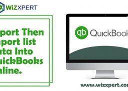 Export Then Import list Data Into QuickBooks Online