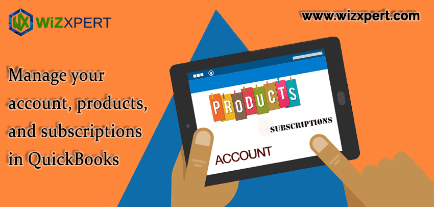 Manage your account products and subscriptions in QuickBooks
