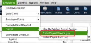 Enter Payroll Service Key