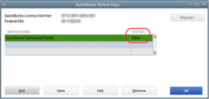 verify the Service Status if it shows ACTIVE then select OK