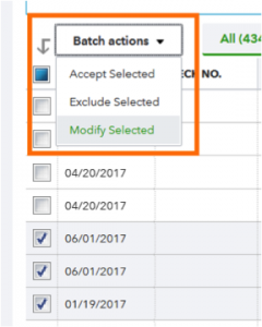 Utilize Batch Actions to Save Time Adding Like-Transactions