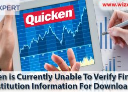 Quicken is Currently Unable To Verify Financial Institution Information For Download