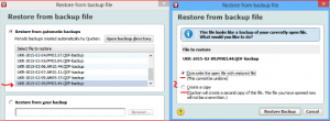 Restore Quicken Data: