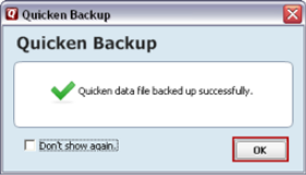 Quicken Backup folder