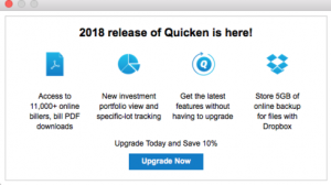 updated version of Quicken 2018 Latest Version