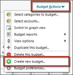 Create a new budget