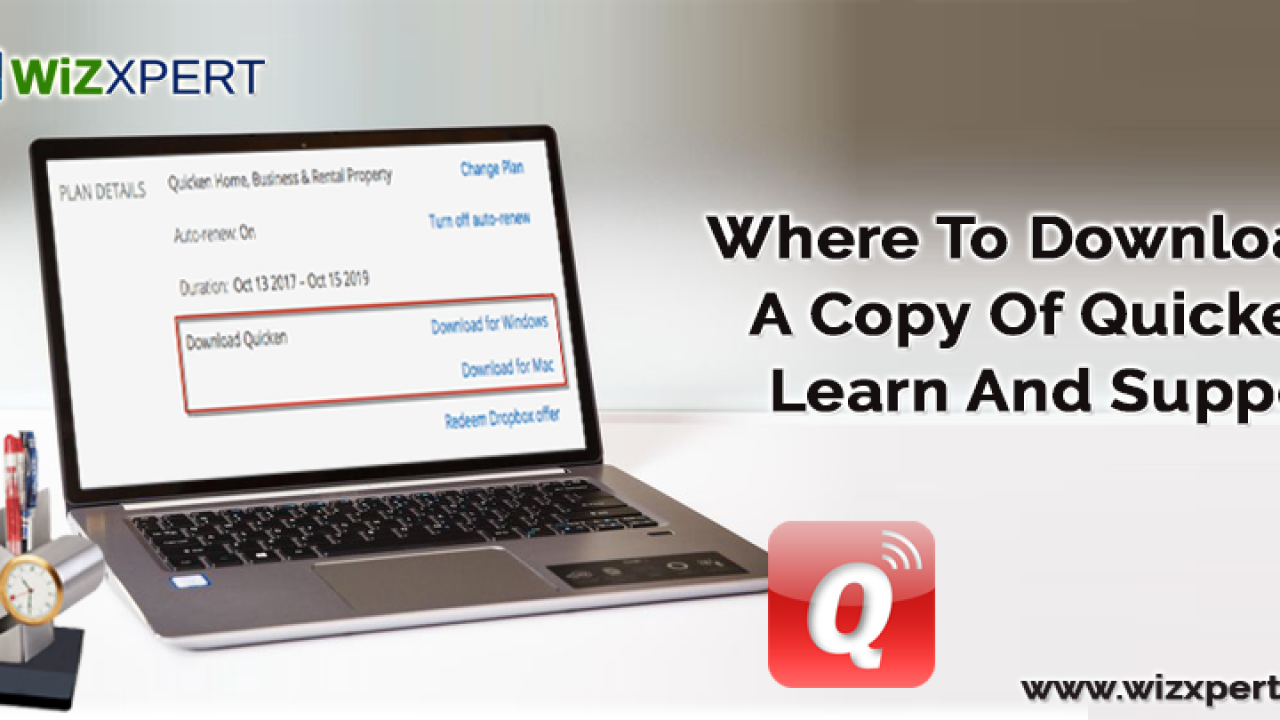 Download A Copy Of Quicken - Wizxpert Learn And Support