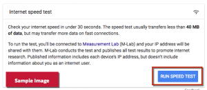 Google speed test_1