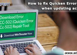How to fix Quicken Error CC-502 when updating accounts?