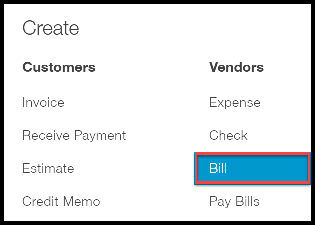 select bill quickbooks online