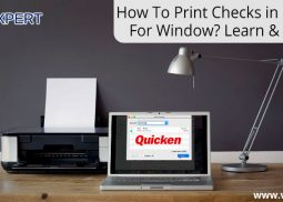 How To Set Up Printer To Print & Write Checks In Quicken For Window?