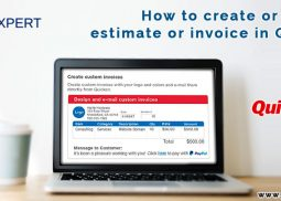 Create or edit an estimate or Quicken invoice