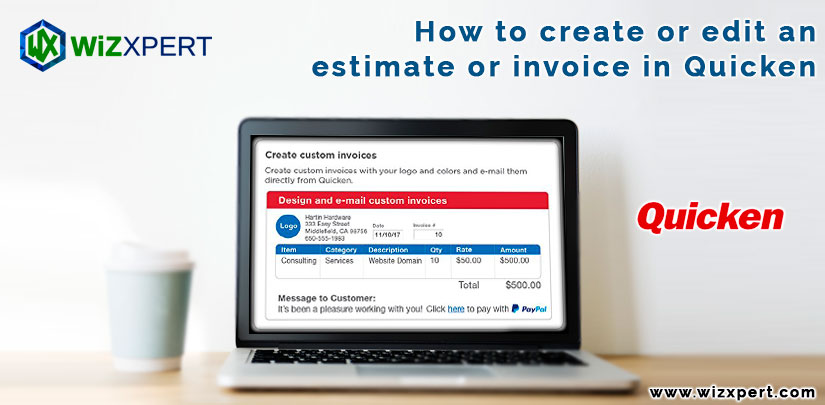 How to create or edit an estimate or invoice in Quicken