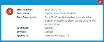 Fix Quicken Error OL-301-a