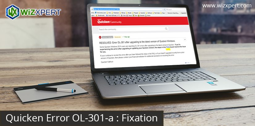 Quicken Error OL-301-a: Fixation