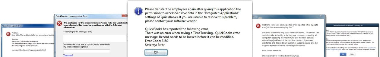 QuickBooks error support center