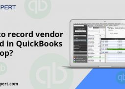 How to record vendor refund in QuickBooks desktop?