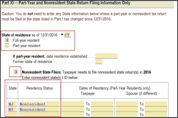 Multi year e-filing in ProSeries