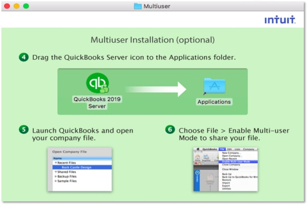 QuickBooks Desktop installation for Mac
