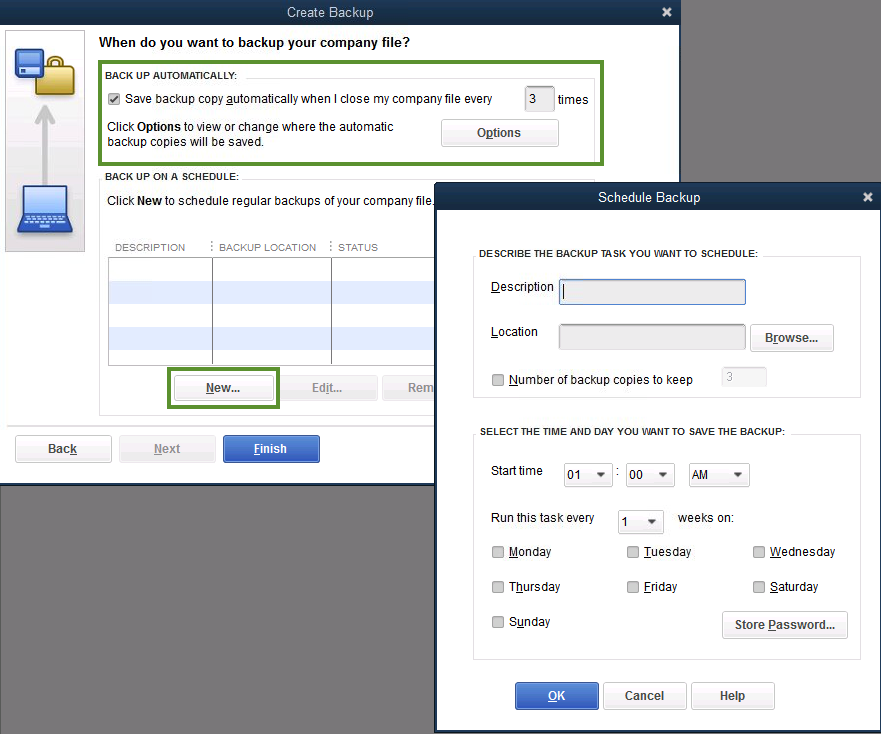 Schedule Automatic Backup for QuickBooks Desktop