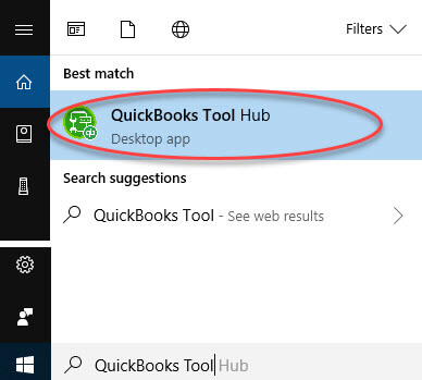 QuickBooks Tool Hub;QuickBooks database server manager stopped