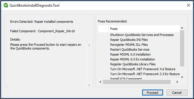 QuickBooks Install Diagnostic Tool; repair QuickBooks