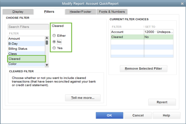 Deposit Undeposited Funds in QuickBooks