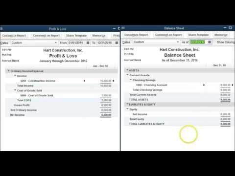 loss and profit; Retained earnings in quickbooks