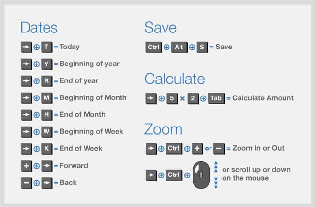 keyboard shortcut; quickbooks online tips