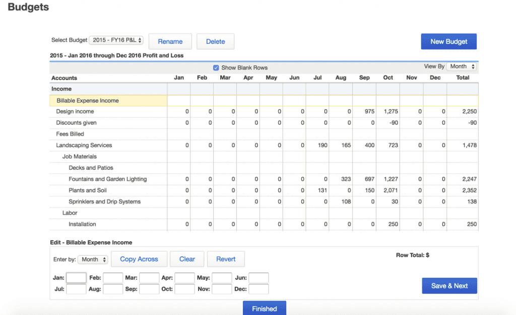 Create & Use QuickBooks Budgeting & Forecasting Reporting