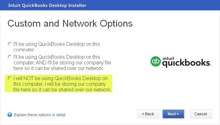 how to install QuickBooks Pro on a server for multiple use