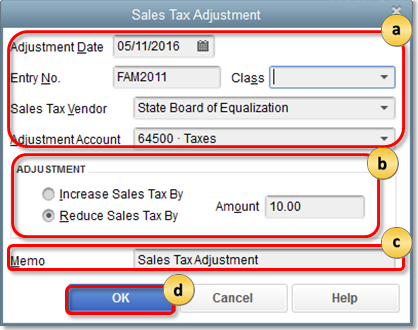 how to adjust sales tax payable in QuickBooks