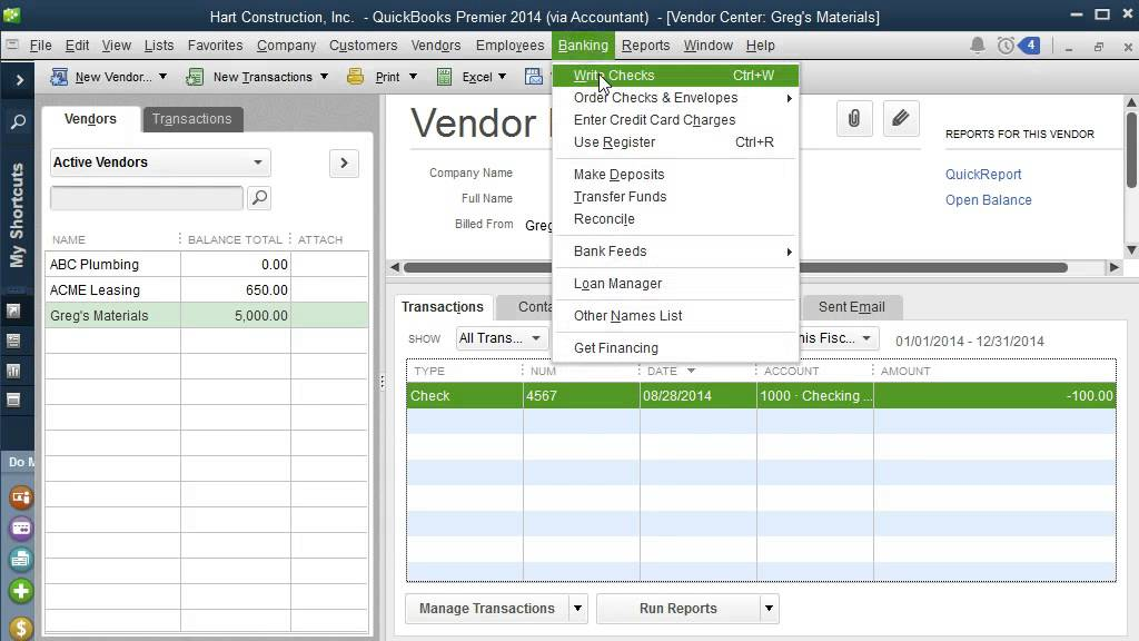 reimbursed expenses in QuickBooks