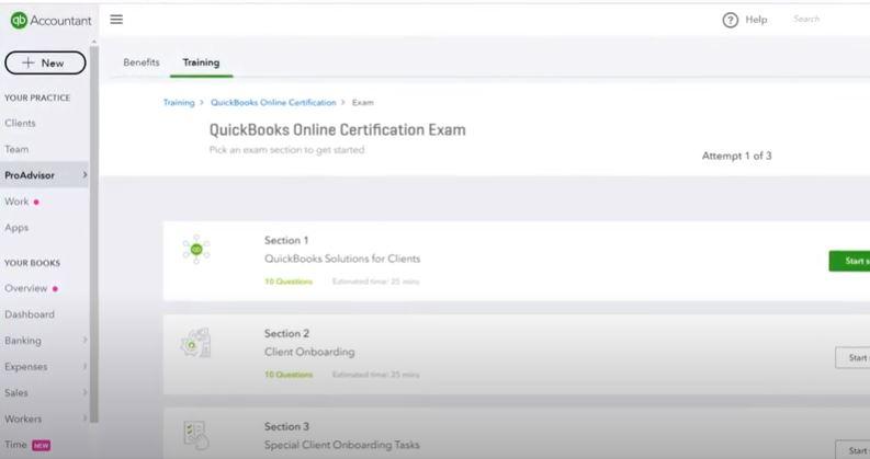 QuickBooks ProAdvisor Certification Exam Questions