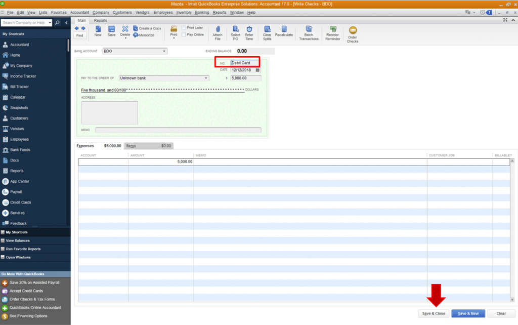 Record Debit Card Transactions & Purchases in QuickBooks 2