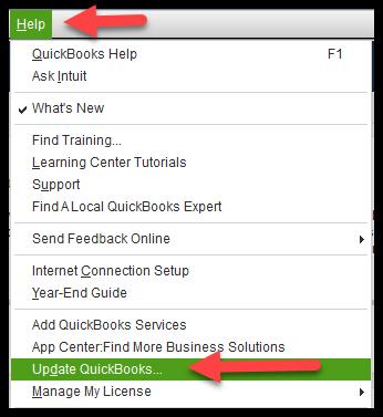 update a QuickBooks Desktop file