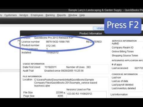 Find QuickBooks Validation Code in Registry