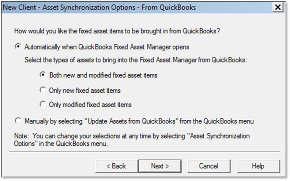 Set Up Fixed Asset Manager in QuickBooks Desktop