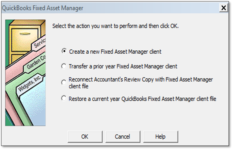 Set Up Fixed Asset Manager