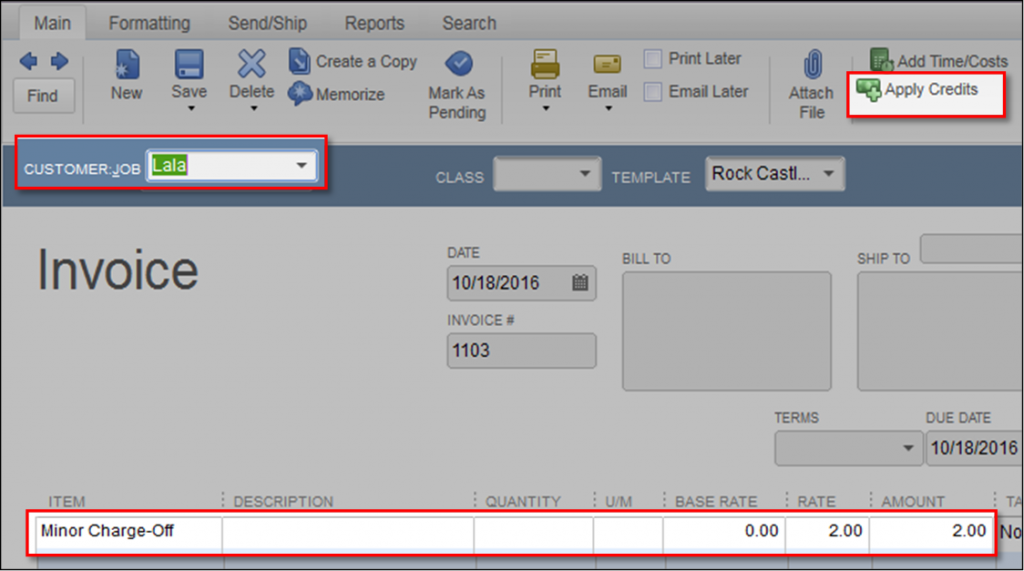 Use Discount to Write Off Customer Overpayment in QuickBooks