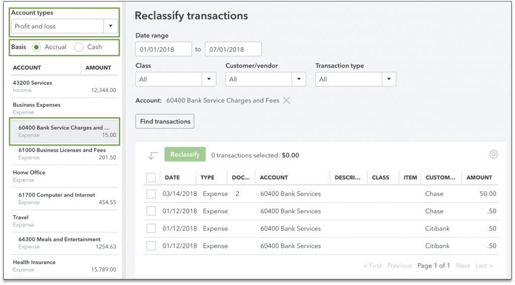Reclassify Transactions In QuickBooks Online Accountant