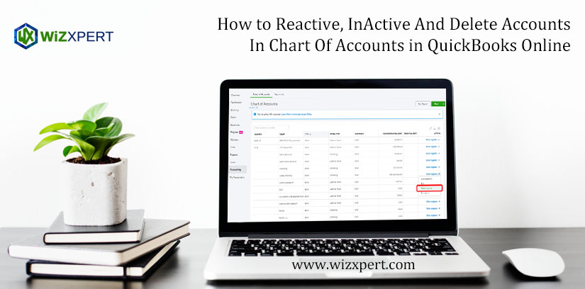 How to Reactive, InActive And Delete Accounts In Chart Of Accounts in QuickBooks Online