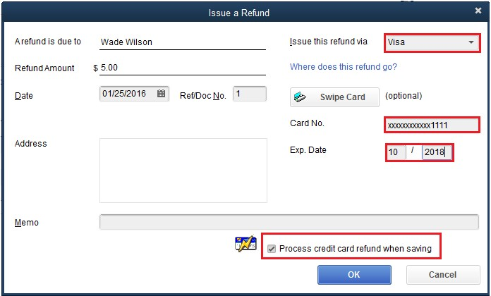 Void or refund customer payments in QuickBooks